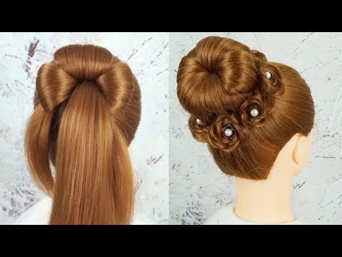 Chignon Hairstyle Step By Step - Prom Hairstyles Tutorial Easy | Juda Hairstyle For Wedding Party thumbnail