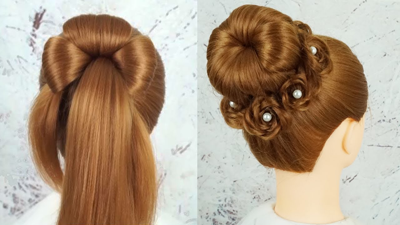 Chignon Hairstyle Step By Step Prom Hairstyles Tutorial Easy Juda Hairstyle For Wedding Party