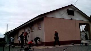 Покраска фасада ( Ремонт ЗЦ 2015 )(Очень скоростная покраска фасада. Самый быстрый метод;), 2015-08-23T09:20:20.000Z)