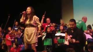 Tracy Bone & Sistema Orchestra of students & WSO performance - June 12. 2013