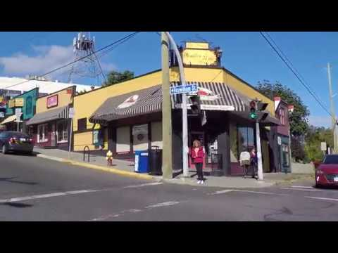 Nanaimo BC - Driving In Downtown / City Centre - Vancouver Island - Western Canada