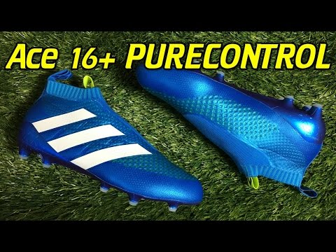 Laceless Adidas ACE 16+ PureControl Shock Blue - Review + On Feet