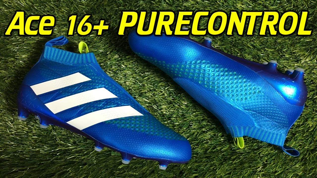 ebbd06f94 where to buy laceless adidas ace 16 purecontrol shock blue review on feet  youtube 713e8 ad985