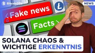 SOLANA CHAOS, Litecoin FAKE NEWS, Bitcoin Supply Schock und eine wichtige Erkenntnis!