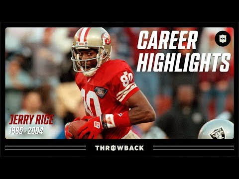 Jerry Rice's G.O.A.T Career Highlights   NFL Legends