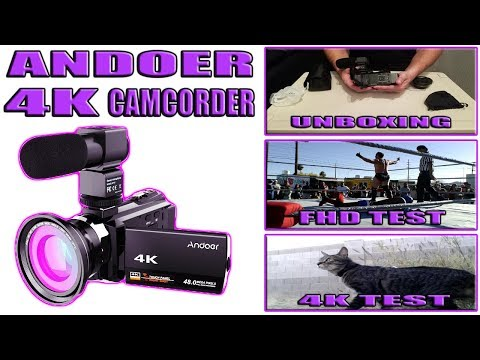Andoer 4K 1080P 48MP WiFi Digital Video Camera Unboxing / Review