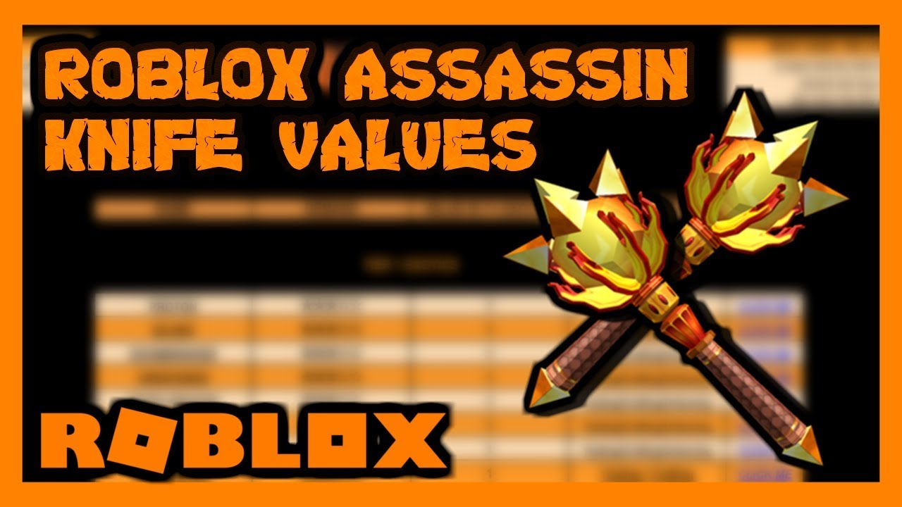Roblox Assassin Value List May 2019 Youtube