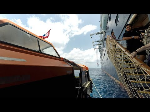 Inside a Cruise Ship Lifeboat Tender to Georgetown Grand Cayman & Back (4K)