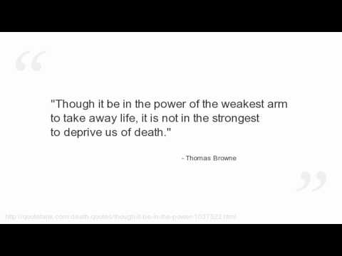 Thomas Browne Quotes