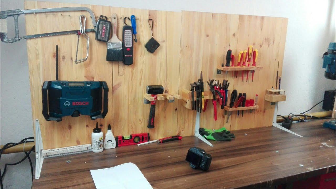 werkzeug wand bauen i halter f r werkzeug kinderleicht bauen i einfach tim youtube. Black Bedroom Furniture Sets. Home Design Ideas