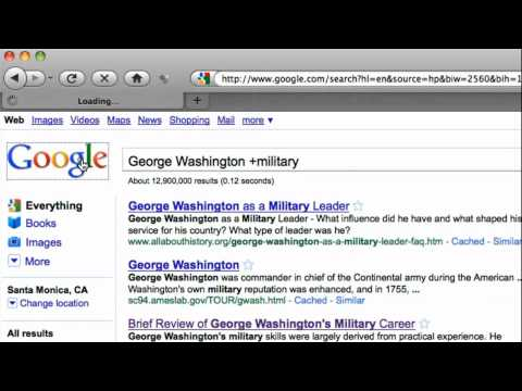 How to Google a Person Using Plus and Minus