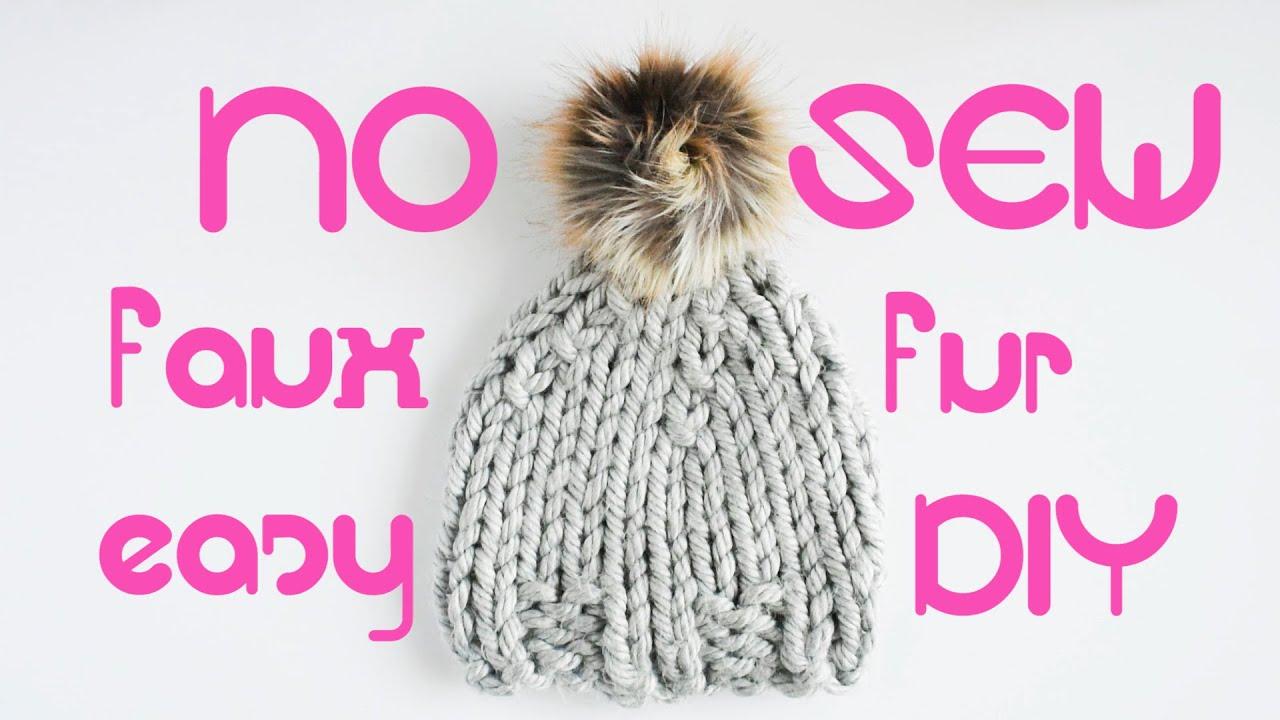 30分で作る!毛皮ファー帽子の作り方☆フェイクファー冬のDIY縫製!