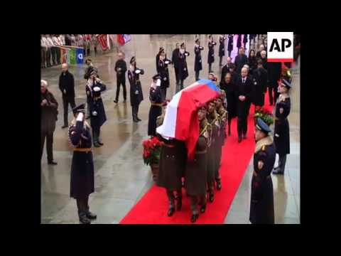 Procession to Prague Castle, where former Czech Republic President Vaclav Havel will lie in state un