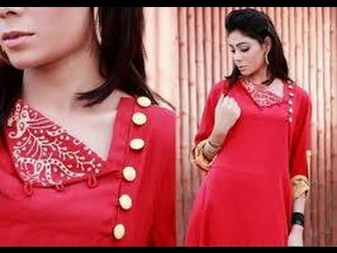 stylish kurti neckline - 1 easy