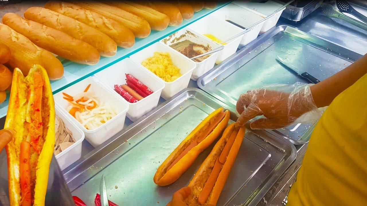 Xe bánh mì que hút khách nhờ vị Pate cực ngon trên vĩa hè Sài Gòn | street food of saigon