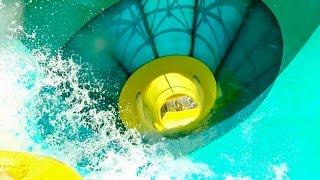 Adventure Island Tampa - Colossal Curl | Huge ProSlide Funnel Ride [NEW 2015]
