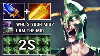 NEW STYLE Mid Undying 2s Decay Scepter Radiance Crazy Raidboss vs Wombo by ex-Liquid Coach Dota 2