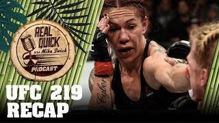 Video UFC 219 Recap - Cyborg vs. Holm / Khabib vs. Barboza - Real Quick With Mike Swick Podcast download MP3, 3GP, MP4, WEBM, AVI, FLV November 2018