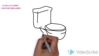 How to Draw a toilet / Как нарисовать туалет