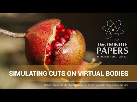 Simulating Cuts On Virtual Bodies | Two Minute Papers #164