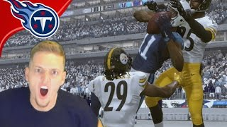 OMG NO WAY! AFC WILD CARD ROUND VS. PITTSBURGH STEELERS!  - Madden 17 Titans Connected Franchise #18