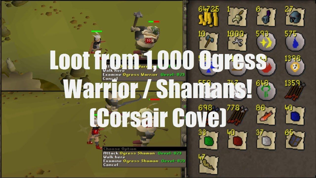 Loot from 1,000 Ogress Warrior / Shamans! (Corsair Cove)