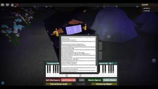 attempting to play Hopes and Dreams on Roblox piano