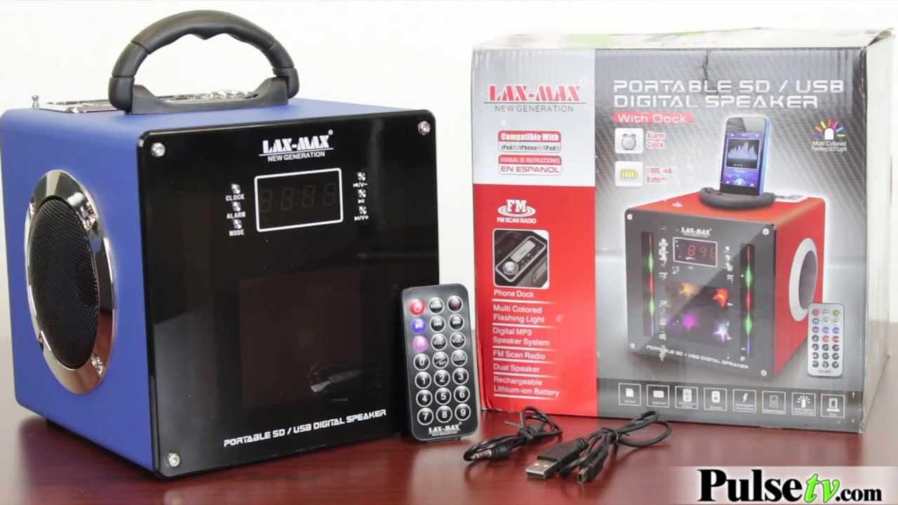 LAX-MAX Portable SD/USB Digital Speaker With Dock