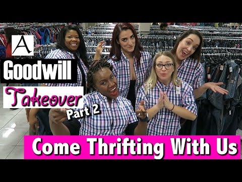 Thrifting with winners at Goodwill inside The Boulevard Come Thrifting With Us #ThriftersAnonymous