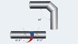 Как разрезать трубу под углом 45 или 90 градусов(Иногда нужно разрезать трубу под 90 градусов, или два по 45 градусов. Вот мой способ. Ссылка на программу Разв..., 2014-06-19T06:05:30.000Z)