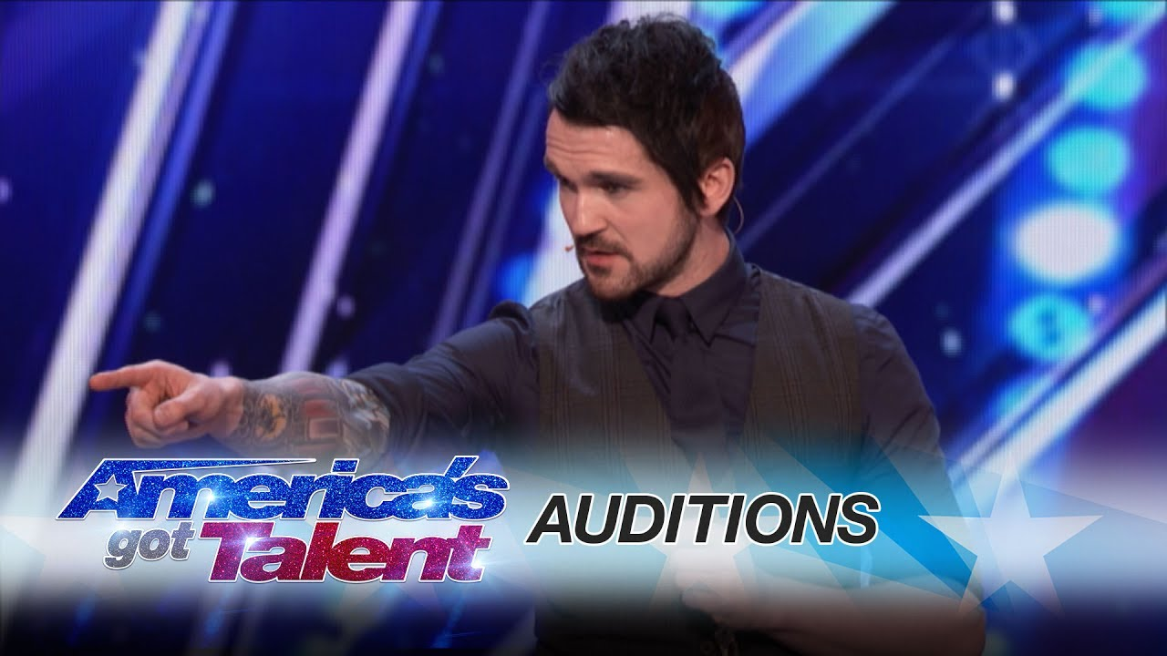 Americas got talent 2017 audition 6 - Colin Cloud Real Life Sherlock Holmes Reads Minds America S Got Talent 2017