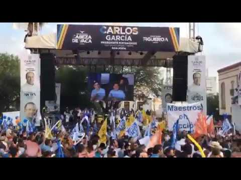 Carlos García.- Arranque de Campaña desde la Plaza Principal en #Matamoros #Tamaulipas
