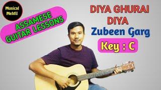 diya ghurai diya | zubeen garg | assamese guitar tutorial