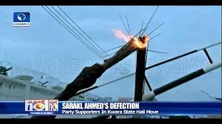 Supporters Celebrate Saraki's Defection From APC