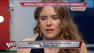 WOWBIZ (31.01.2017) - Anastasia in platoul Wowbiz