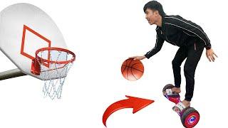 PHD | Trận Chiến Bóng Rổ Trên Xe Điện Cân Bằng | Basketball Battle Challenge