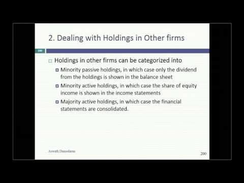 Session 11: Loose Ends in Valuation: Cash, Cross holdings & Other Assets