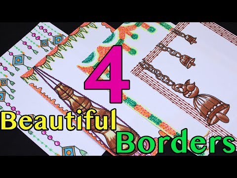 4 Border Designs   Border Designs On Paper   Project Designs   Traditional borders   My Creative Hub
