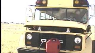 1974 GMC Ward School Bus start-up and drive demonstration