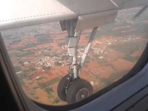 Hyderabad to Bangalore Flight while Landing