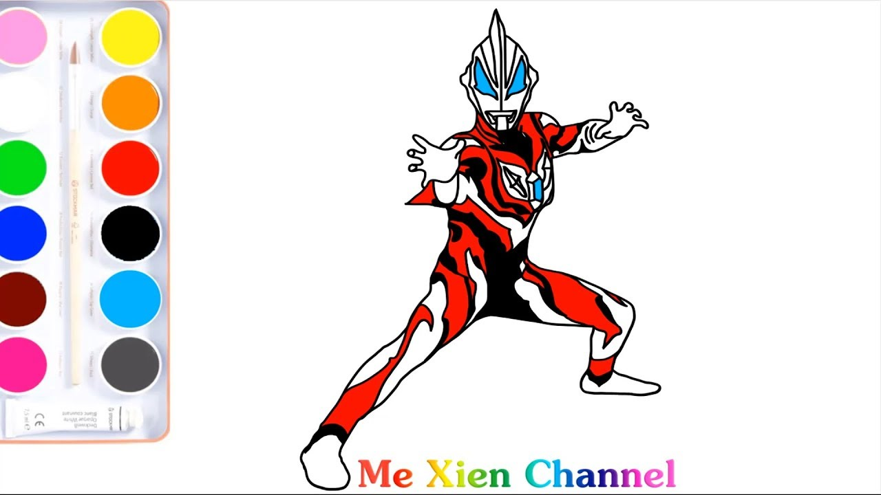 Ultraman Geed Draw Ultraman Colorings Pages