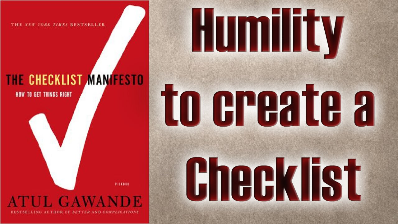 Atul Gawande -The Checklist Manifesto - How to Get Things Right ...