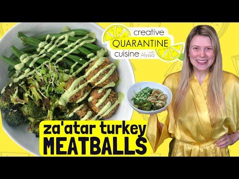 Za'atar Mediterranean Turkey Meatballs!