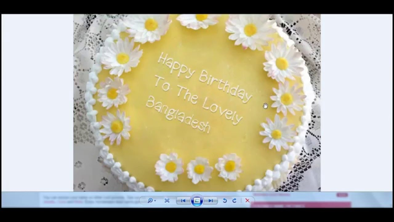 How To Write Name On Birthday Cake By Website Youtube