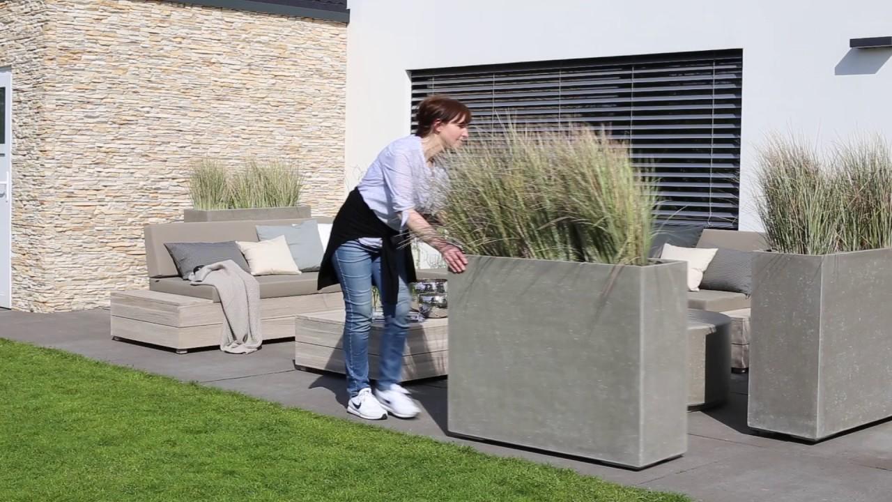 Rollbares Pflanzgefass Als Raumteiler Fur Garten Terrasse Youtube