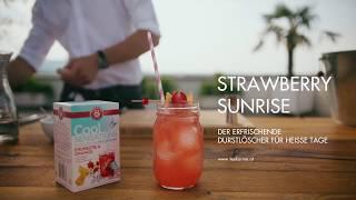 Strawberry Sunrise mit TEEKANNE Cool Sensations Erdbeere Orange