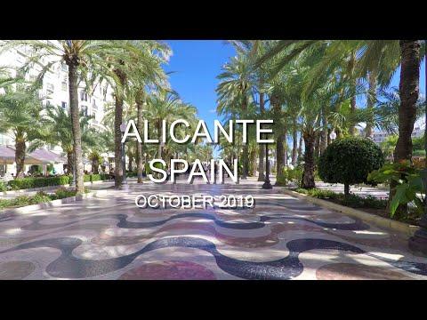 Alicante, Spain October 2019 4K