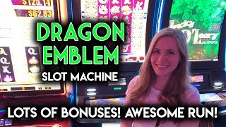 INCREDIBLE RUN! Dragon Emblem Slot Machine! BONUS AFTER BONUS!!