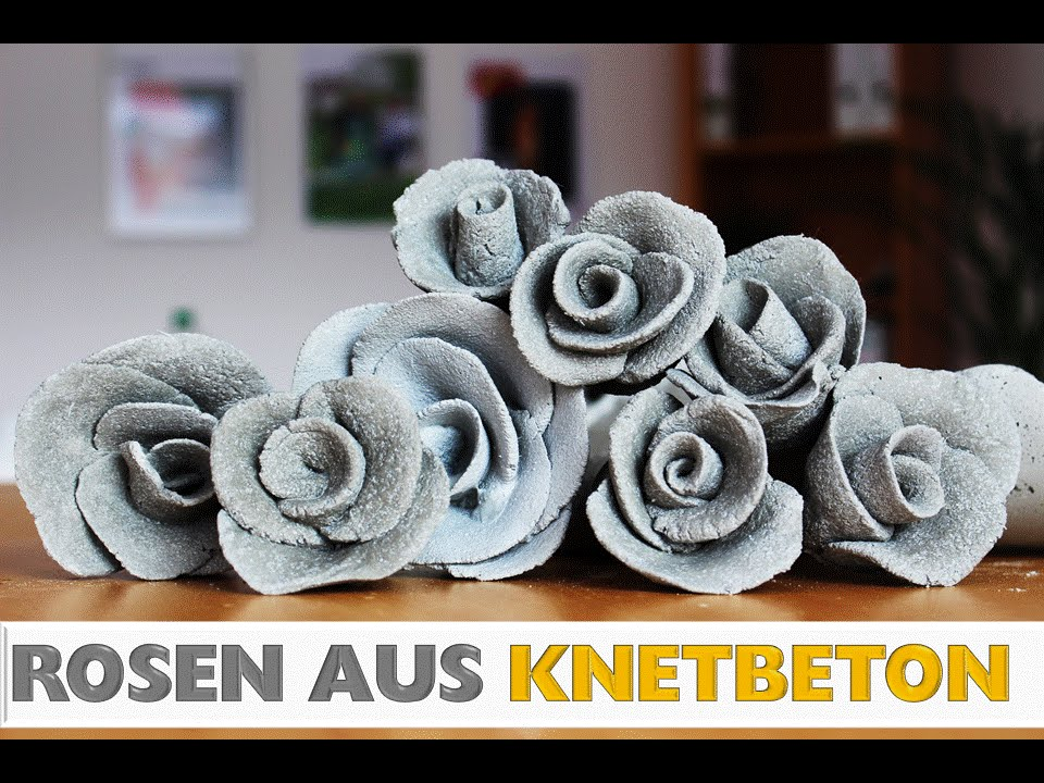 diy rosen aus knetbeton rosendeko deko aus beton how to do deko selber machen youtube. Black Bedroom Furniture Sets. Home Design Ideas