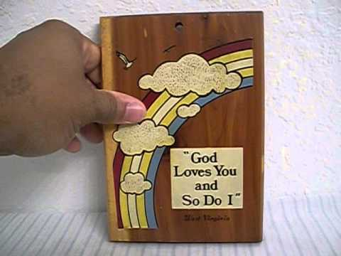 West Virginia Wooden Souvenir Plaque